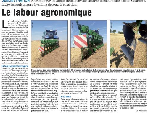 La Marne Agricole / Le labour agronomique